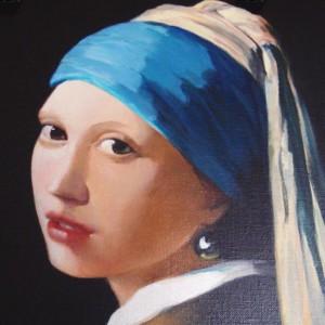 Reproduction : La jeune femme à la perle – Vermeer