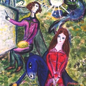 Reproduction – Chagall Autoportrait